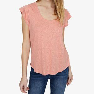 New Sanctuary Ruby Scoop Neck Linen Tee Shirt